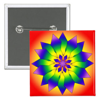 Snowflake 4444 15 cm square badge
