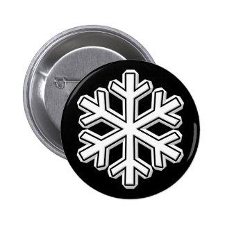 Snowflake 6 Cm Round Badge