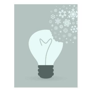 Snowflake a bulb2 postcard