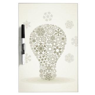 Snowflake a bulb dry erase board