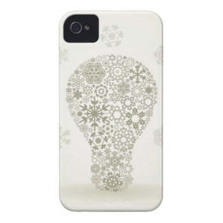 Snowflake a bulb iPhone 4 case
