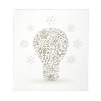 Snowflake a bulb notepad