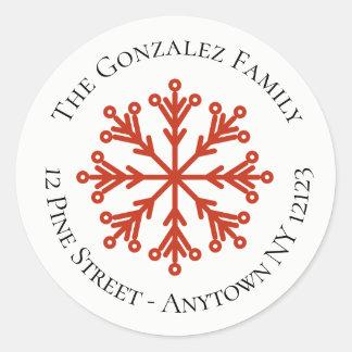 Snowflake Address Sticker