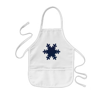 Snowflake Arts & Crafts / Cooking Apron - White