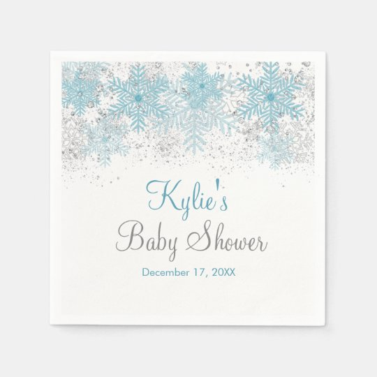 Snowflake Baby It's Cold Outside Napkins Disposable Serviettes