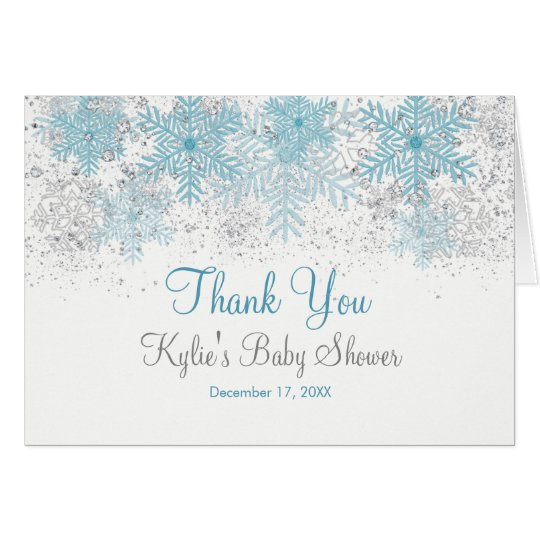 Snowflake Baby It's Cold Outside Thank You Card