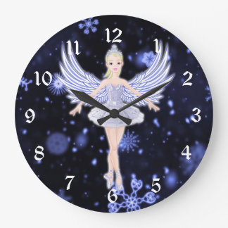Snowflake Ballerina fairy Wall Clocks
