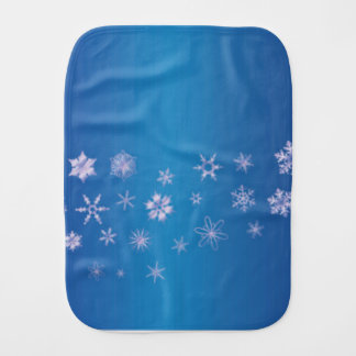 Snowflake Banner Burp Cloth