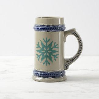 Snowflake Beer Stein
