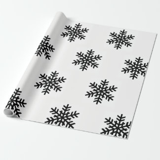 Snowflake Black and White Wrapping Paper