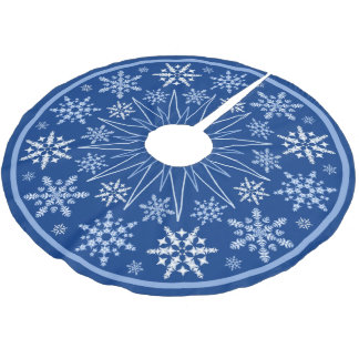 Snowflake Blizzard Brushed Polyester Tree Skirt