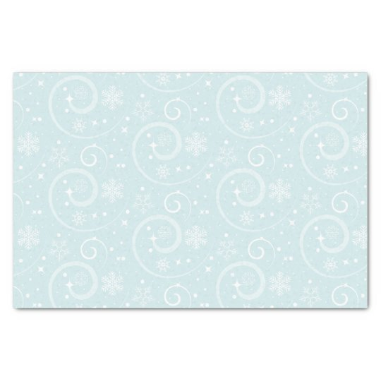 Snowflake Blue background Tissue Paper