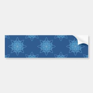 Snowflake Blue Bumper Sticker