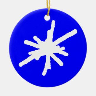 Snowflake - Blue Christmas Tree Ornaments
