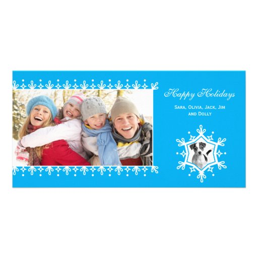 Snowflake  |  Blue Holiday Photo Cards