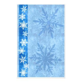 Snowflake Blue Holiday Stationary Stationery