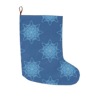 Snowflake Blue Large Christmas Stocking