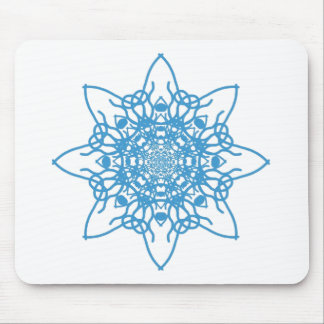 Snowflake Blue Mouse Pad