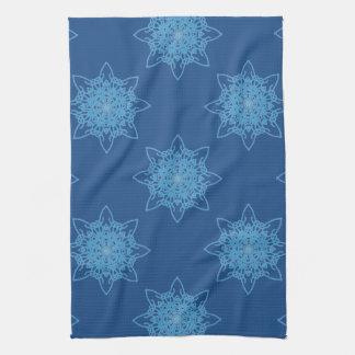 Snowflake Blue Tea Towel