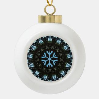 Snowflake Blue Tree Pattern Design Ornament