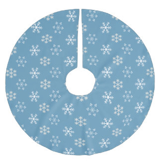 Snowflake Blue Tree Skirt