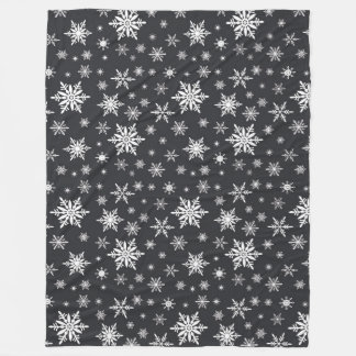 snowflake chalkboard art fleece blanket