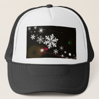 Snowflake Christmas Background Trucker Hat