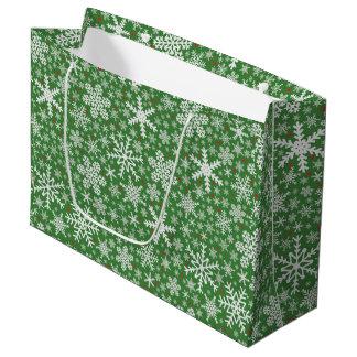 Snowflake Christmas   Holiday Gift Bag