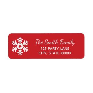 Snowflake Christmas Return Address Label