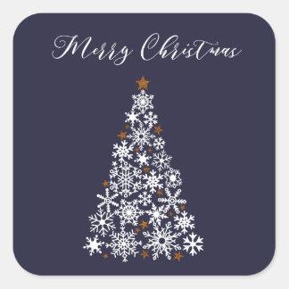 Snowflake Christmas Tree Festive Sticker