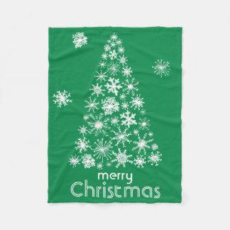 Snowflake Christmas Tree Merry Christmas blanket