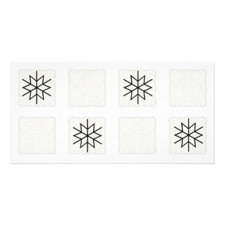 SnowFlake Collage Photo Collage Card Photo Greeting Card