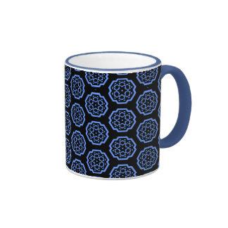 Snowflake Constellation - Blue Coffee Mugs
