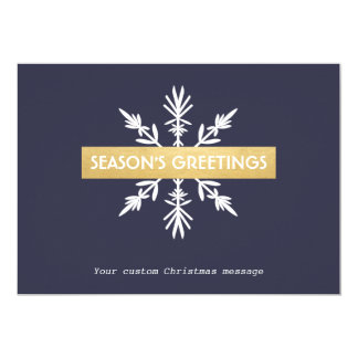 Snowflake Corporate Christmas Seasons Greetings 13 Cm X 18 Cm Invitation Card