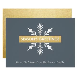 Snowflake Corporate Christmas Seasons Greetings Card