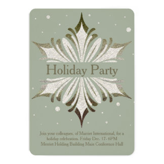 Snowflake Corporate Holiday Party Invitation