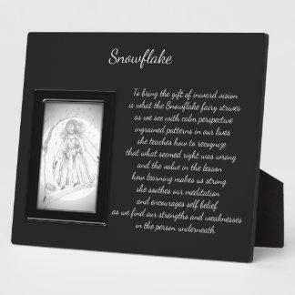 Snowflake Crystal Fairy Plaque