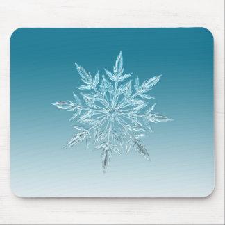 Snowflake Crystal Mouse Pad