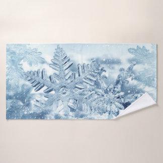 Snowflake Crystals Bath Towel