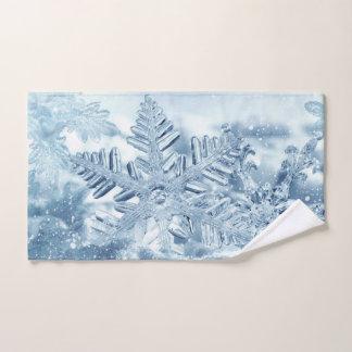 Snowflake Crystals Hand Towel