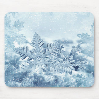 Snowflake Crystals Mouse Pad