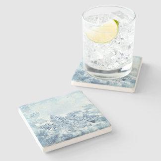 Snowflake Crystals Stone Coaster