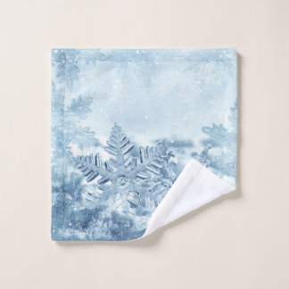 Snowflake Crystals Wash Cloth