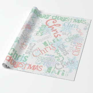 Snowflake Custom Gift Wrap Colour and Name Change