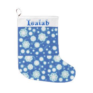 Snowflake Customizable Large Christmas Stocking