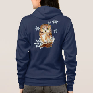 Snowflake Cute Saw Whet Owl Shirt
