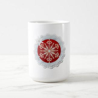 Snowflake Design Customizable Christmas Basic White Mug
