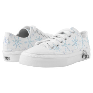 Snowflake design low top sneakers