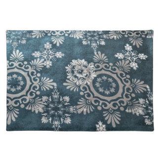 Snowflake design placemat