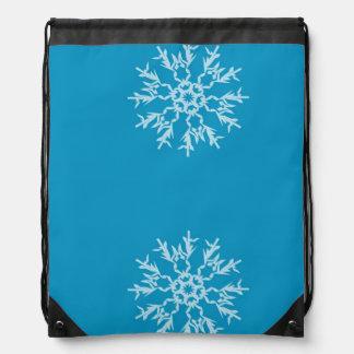 Snowflake Drawstring Backpack